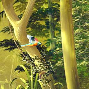 wandgestaltung regenwald detail