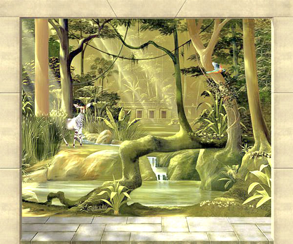 wandmalerei-regenwald-detail