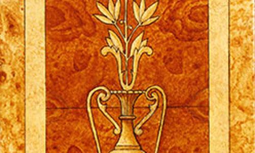 dekorationsmalerei- wurzelholzintarsie