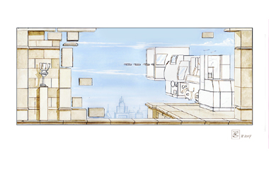 Wandgestaltung Firmenräume-entwurf