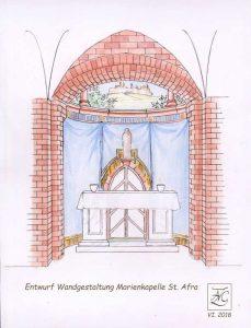 Kirchenmalerei-Entwurf