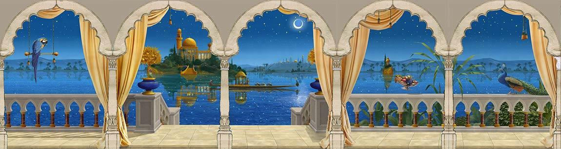 wandmalerei-orientalische-nacht
