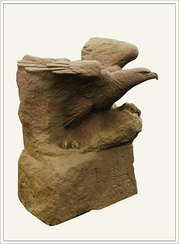 Steinskulptur von A.M.C. Latzke
