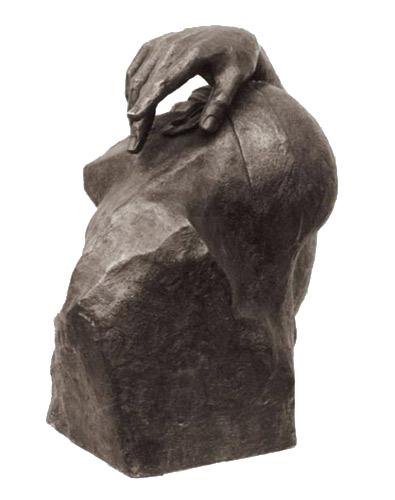 portraitbueste-ikarus-bronze