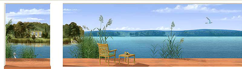 malerei-seeblick-schwimmbad
