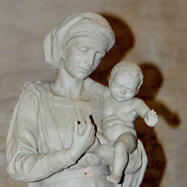 skulptur-maria-mit-kind-ton-modell